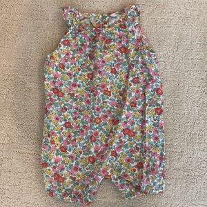 Baby Boden Floral Romper 6-12 months